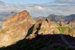 Pico do Arieiro hiking trail royalty free stock photo