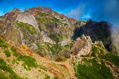 Pico do Arieiro landscape with trekking paths Royalty Free Stock Photography