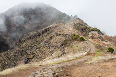 Pico do Arieiro in Madeira Island, Portuga Royalty Free Stock Image