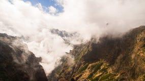 Pico do Arieiro in Madeira Island, Portugal aerial royalty free stock photos