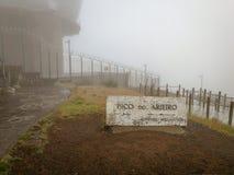 Pico do Arieiro, the third highest mountain in Madeira royalty free stock images