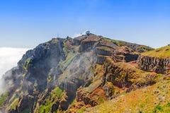 Pico do Arieiro - radar station - mountainous landscape Royalty Free Stock Photography