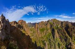 Pico do Arierio and Pico Ruivo - Madeira Portugal Royalty Free Stock Photos