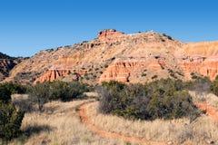 Pico do Capitólio da fuga em Palo Duro Canyon State Park, Texas fotografia de stock