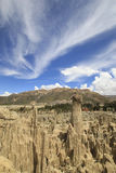 Pico do vale da lua sob céu surpreendente Fotos de Stock Royalty Free