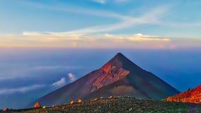 Pico do vulcão da Guatemala Fotografia de Stock