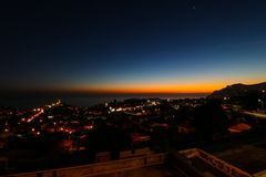 Pico dos Barcelos by Night, Funchal, Madeira Royalty Free Stock Photos