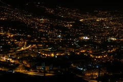 Pico dos Barcelos by Night, Funchal, Madeira Royalty Free Stock Images