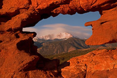 Pico dos piques do jardim dos deuses Fotos de Stock Royalty Free