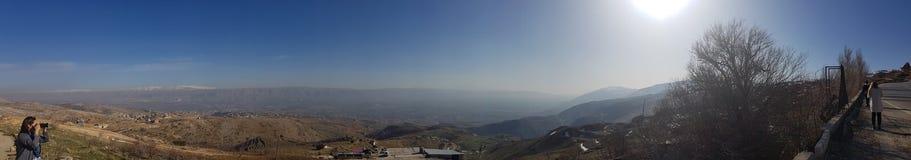 Pico e Bekaa Valley de Moutain Fotos de Stock
