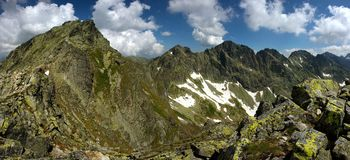 Pico e cume de montanha Imagem de Stock