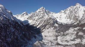 Pico en las altas montañas de Tatras, Eslovaquia de Gerlachov almacen de metraje de vídeo