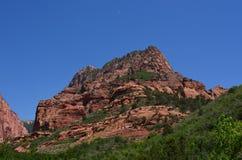 Pico en Zion National Park Foto de archivo libre de regalías