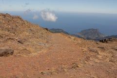 Pico font la montagne d'Areeiro Photographie stock libre de droits