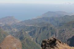 Pico font la montagne d'Areeiro Photos libres de droits