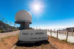 Pico gör Arieiro Arkivbilder