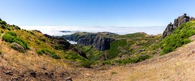 Pico gör den Arieiro panoramautsikten, madeira hög bildupplösning för illustration 3d Royaltyfri Foto