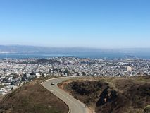 Pico gemelo en San Francisco Ca Imagen de archivo libre de regalías