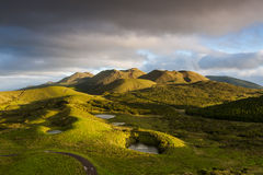 Pico Highlands. Pico Island highlands and small lakes in the azores stock images
