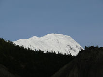 Pico Himalayan Nevado Ganggapurna Imagen de archivo libre de regalías