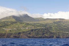 Pico island view from the atlantic ocean. Azores archipelago. Po Stock Image