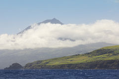 Pico island view from the atlantic ocean. Azores archipelago. Po Royalty Free Stock Image