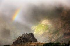 Pico Madeira rainbow royalty free stock photo