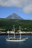 Pico Mount Azores São Roque Harbour Royalty Free Stock Photography