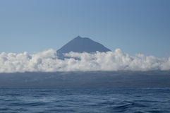 Pico mountain in the clouds Royalty Free Stock Photography