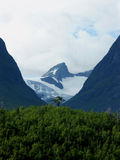 Pico nevado Imagenes de archivo