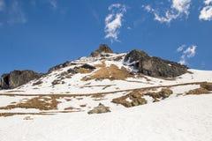 Pico nevado en Gressoney Fotos de archivo libres de regalías