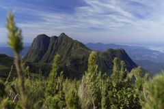 Pico Parana góra blisko Curitiba - Serra robi Ibitiraquire fotografia stock