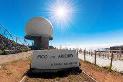 Pico robi Arieiro Obrazy Stock