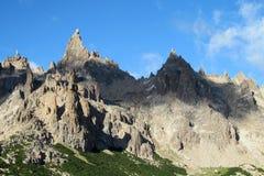 Pico rocoso de Cerro Catedral Fotografía de archivo