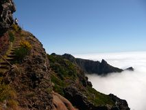 Pico ruivo in Madeira Stock Photography