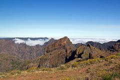 Pico Ruivo, mountain of Madeira Stock Photos
