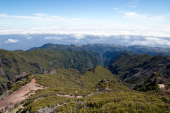 Pico ruivo mountain, Madeira Royalty Free Stock Photo