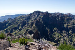 Pico ruivo mountain, Madeira Royalty Free Stock Photography