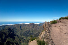 Pico ruivo mountain, Madeira Royalty Free Stock Images
