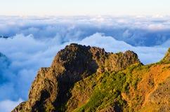 Pico Ruivo peak on Madeira island, Portugal Royalty Free Stock Photos