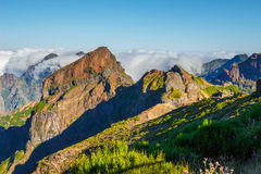 Pico Ruivo and Pico do Areeiro, central Madeira, Portugal Royalty Free Stock Image
