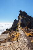 Pico Ruivo and Pico do Areeiro, central Madeira, Portugal Royalty Free Stock Photos