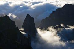 Pico Ruivo-Spitze auf Madeira-Insel, Portugal Lizenzfreies Stockbild