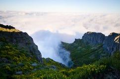 Pico Ruivo-Spitze auf Madeira-Insel, Portugal Stockbild