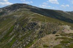 Pico San Millà ¡ n & x28; Burgos Spain& x29; Arkivfoto
