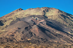 Pico Viejo crater, volcanic landscape in El teide National Park, Canary Island, Spain. Stock Image