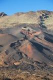 Pico Viejo krater, powulkaniczny krajobraz w El teide parku narodowym, wyspa kanaryjska, Hiszpania Obrazy Royalty Free