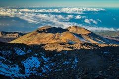 Pico Viejo-vulkaan in het Nationale park Gr Teide, Tenerife Royalty-vrije Stock Afbeelding
