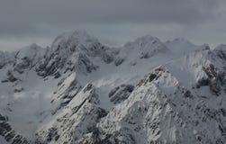 Picos alpinos Fotografia de Stock