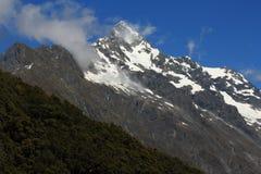 Picos alpinos en el parque nacional de Fiordland Fotografía de archivo